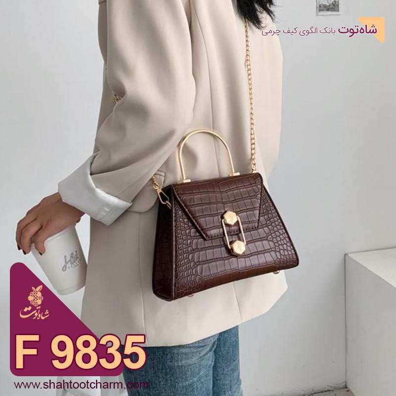 الگوی کیف دوشی زنانه چرمی مدل ونوس F 9835