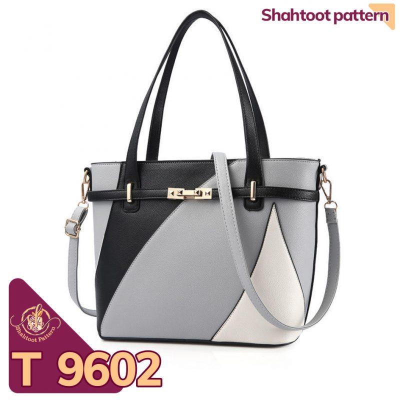الگوی کیف دستی زنانه چرمی مدل پرگل T 9602