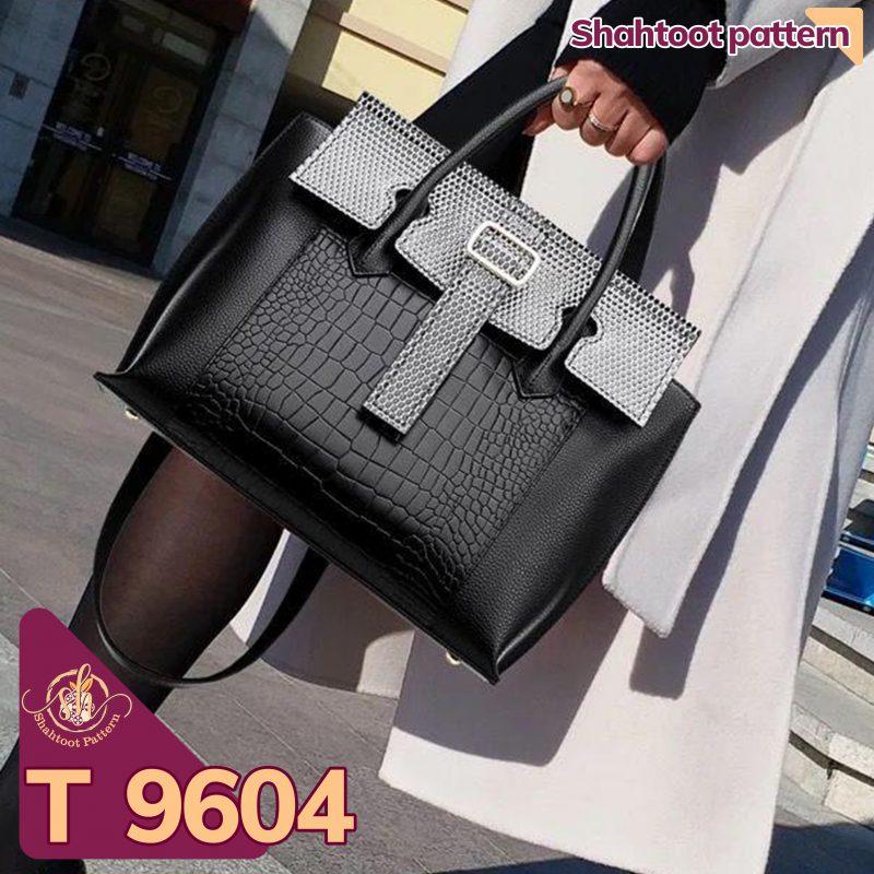 الگوی کیف دستی زنانه چرمی مدل السا T 9604