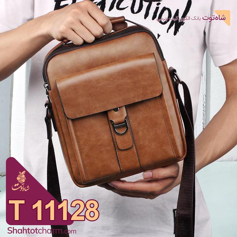 الگوی کیف دوشی مردانه چرمی مدل فرهان T 11128