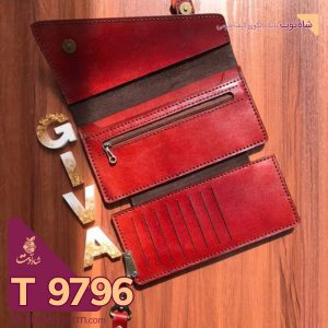 الگوی کیف پول سه لت چرمی مدل گیوا T 9796