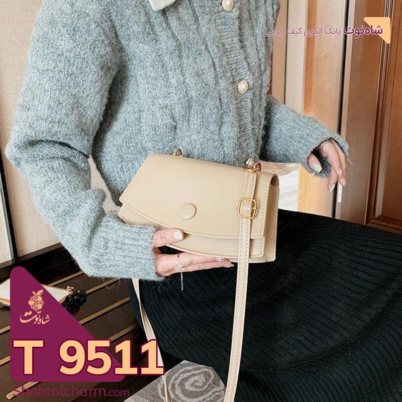 الگوی کیف دوشی زنانه چرمی مدل ایوا T 9511