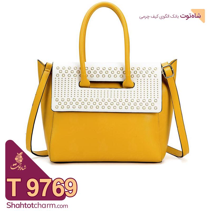 الگوی کیف دستی زنانه چرمی مدل پینار 9769 T
